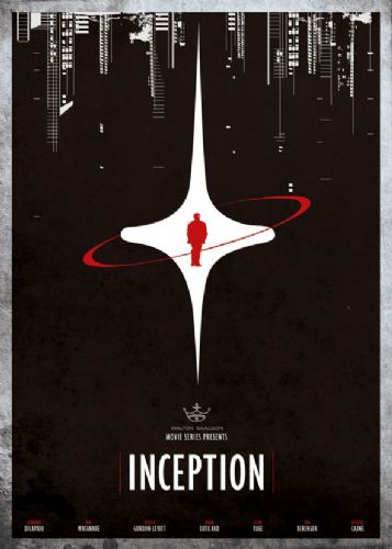 2010's Movie - INCEPTION - MINIMAL CITY canvas print - self adhesive poster - photo print